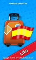 Screenshot of Phrasebook Spanish Lite