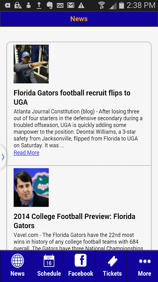 Florida Football- screenshot