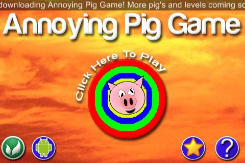 Annoying Pig Game- screenshot