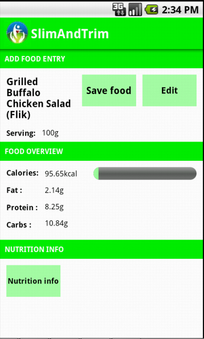 Calorie Counter Free - screenshot