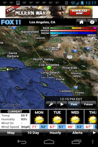 LA Weather - screenshot