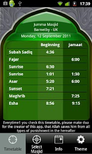 Masjid Timetable - screenshot thumbnail