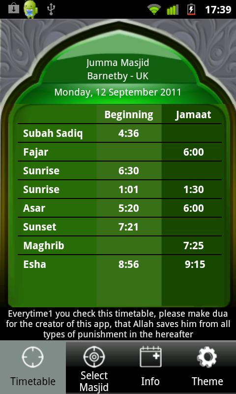 Masjid Timetable- screenshot