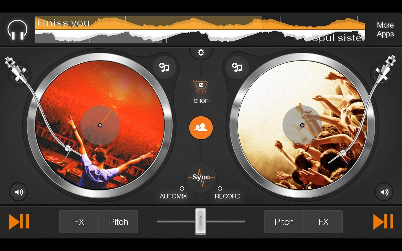 edjing DJ studio music mixer - screenshot