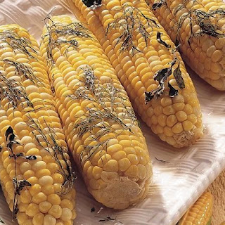 Baked Corn on the Cob with Herbs