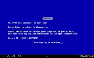 Screenshot of Blue Screen of Death