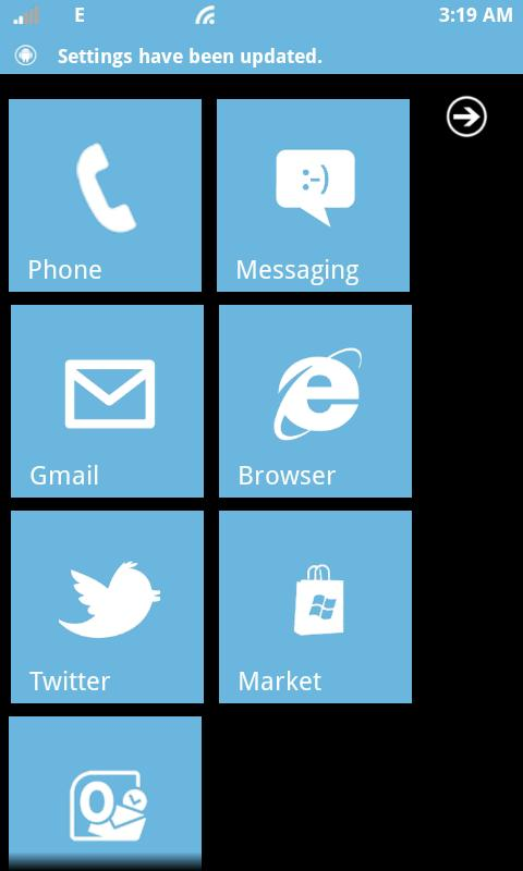 Windows Phone Android - screenshot