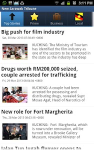 New Sarawak Tribune screenshot 0