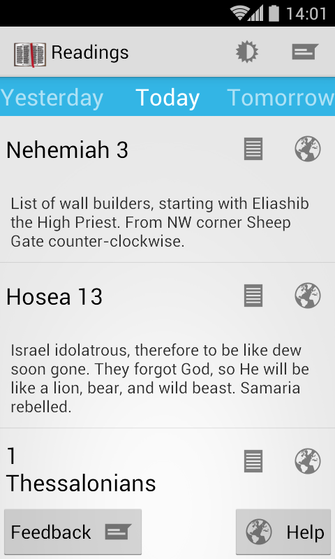 Daily Bible Reading- screenshot