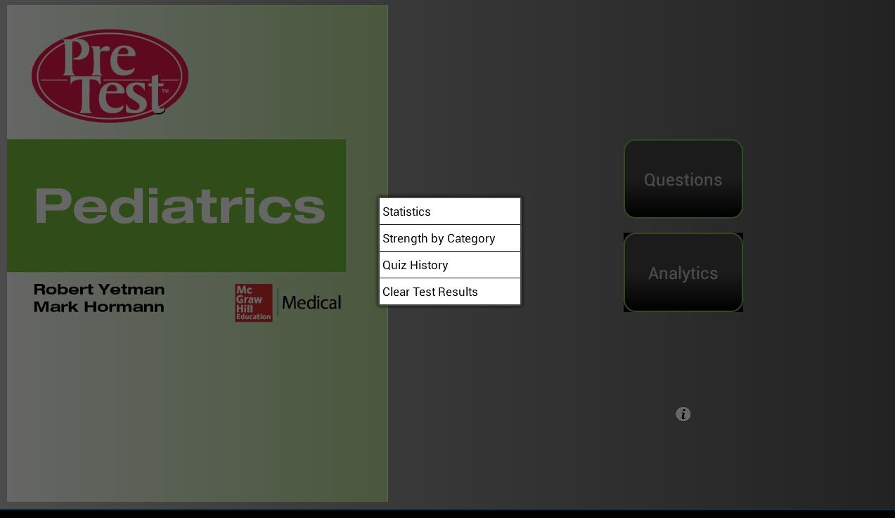 Pediatrics PreTest - screenshot