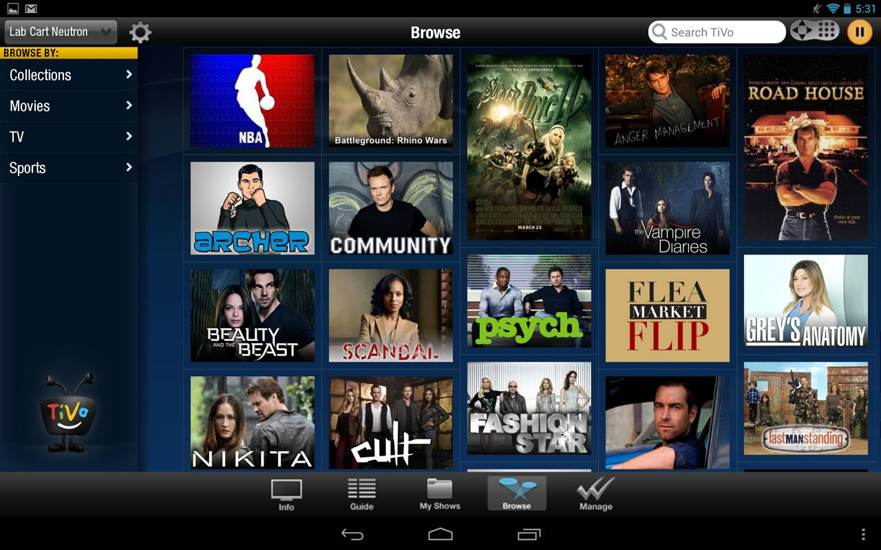 TiVo Tablet (Obsolete)- screenshot