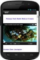 Screenshot of Resepi Kek Batik Sedap