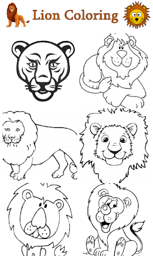 Lion Coloring For Kids