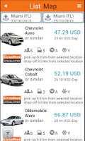 Screenshot of IzziRent Car Rental