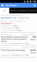 Screenshot of Lista Leków Refundowanych