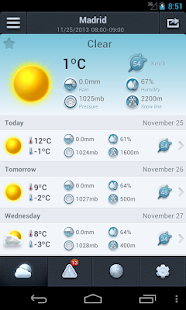 Weather in Spain 14 days - screenshot thumbnail