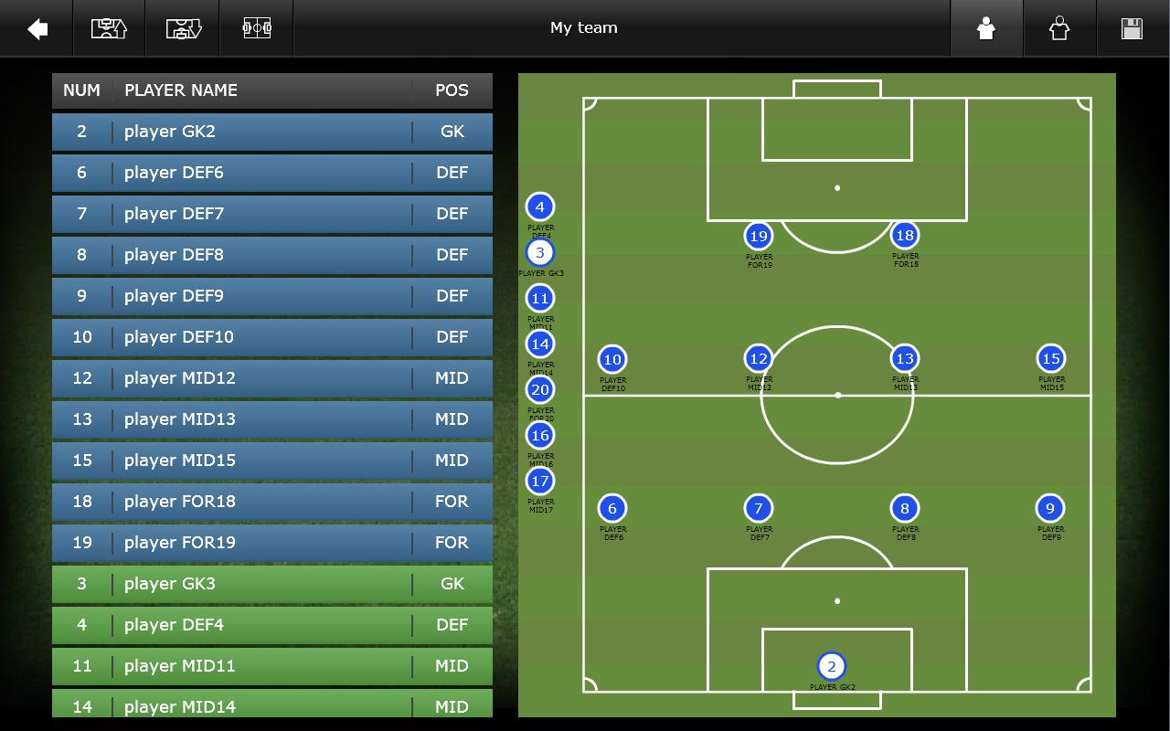 Mourinho Tactical Board Tablet - screenshot