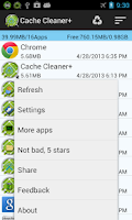 Screenshot of Cache Cleaner +