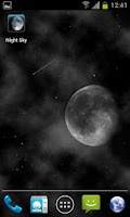 Screenshot of Night Sky Live Wallpaper