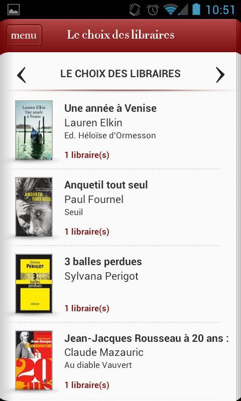 Le choix des libraires- screenshot