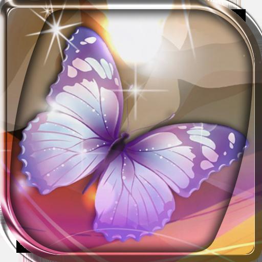 发光蝴蝶壁纸 個人化 App LOGO-硬是要APP