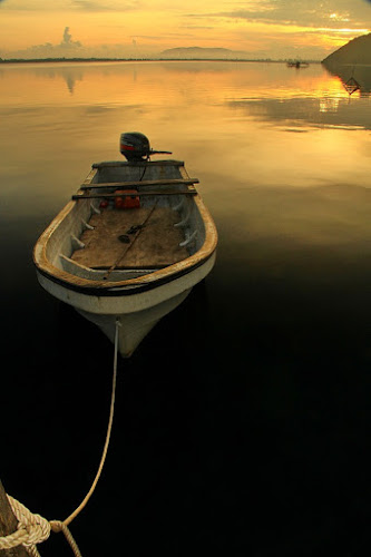Lonely by Edwin Yepese - Transportation Boats ( boats, novices only, transportation )