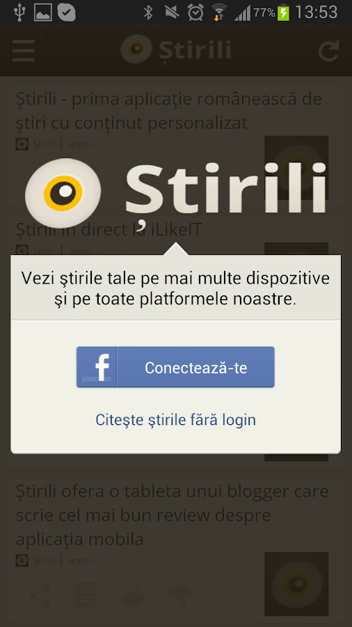 Ştirili- screenshot