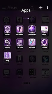 Eternal Purple GO Theme- screenshot thumbnail