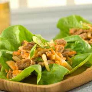 Asian Pork Lettuce Wraps.