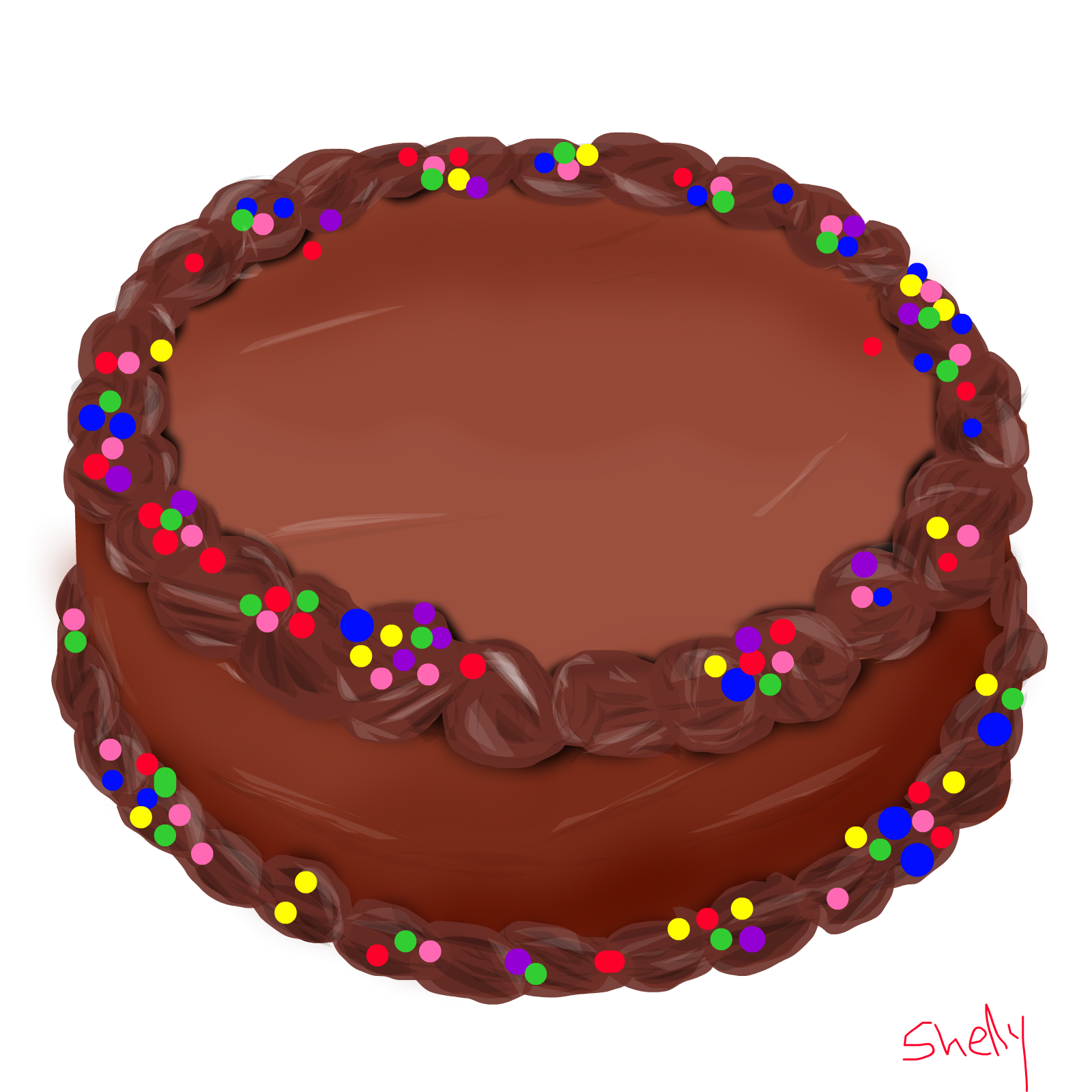 Twitter Cake Chocolate Penises