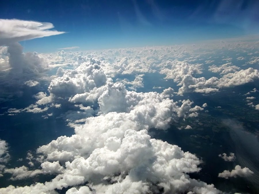 Over The Clouds by Yvonne Johnson - Landscapes Cloud Formations ( clouds, sky,  )
