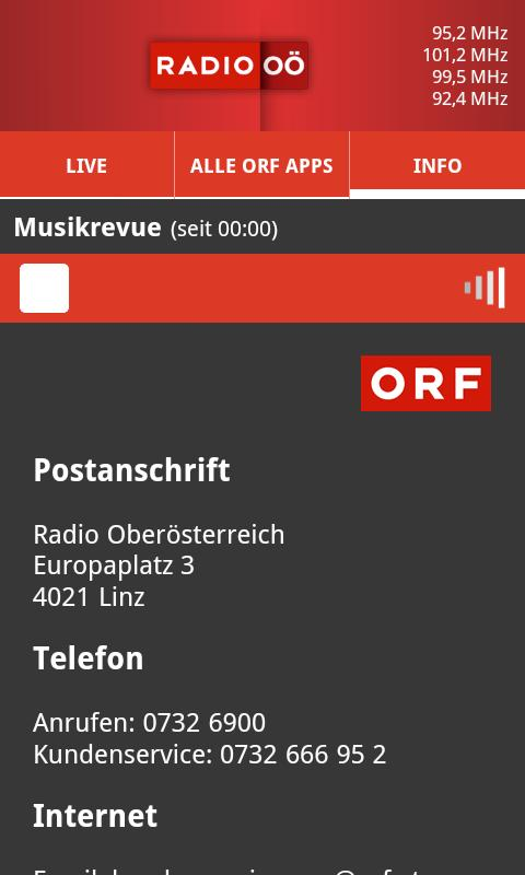 ORF Radio Oberösterreich- screenshot