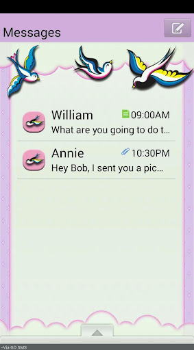 LaceBirds GO SMS THEME