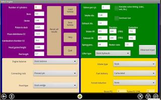 Screenshot of Virtual Dyno