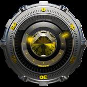 Clock Widget Yellow Diamond