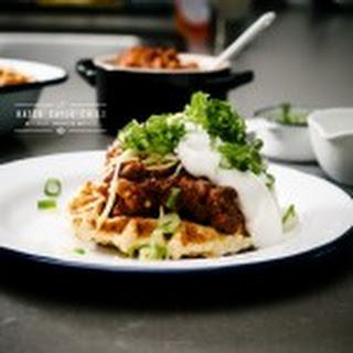 Chili and Cornbread Waffle