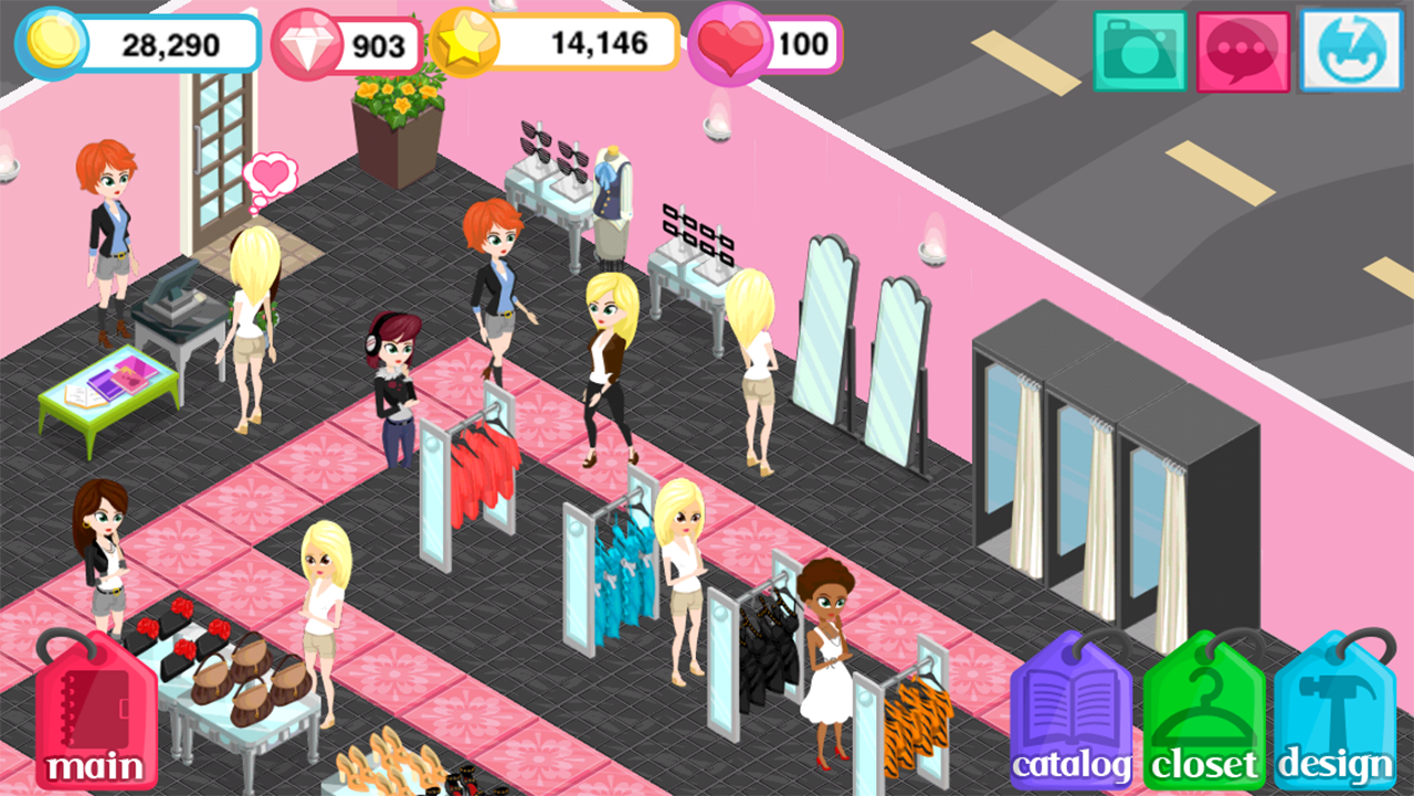 Girl Clothing Designer Games Online Free Fashion Story screenshot