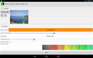 Screenshot of Event Countdown Widget