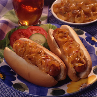 Onion-smothered Hot Dogs