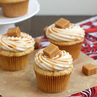 Spiced Apple Cupcakes with Cinnamon Cream Cheese Frosting.