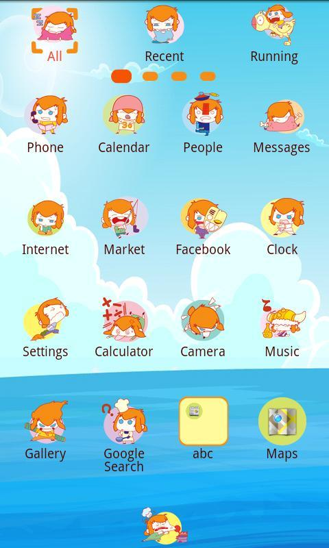 KUIBA Theme GO Launcher EX - screenshot