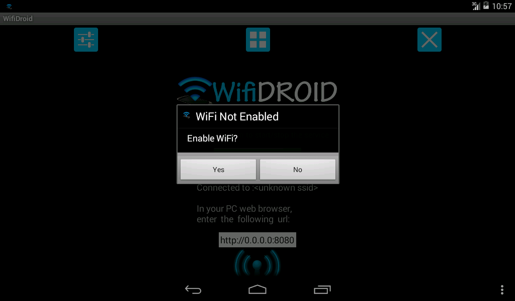WifiDroid - Wifi File Transfer- screenshot