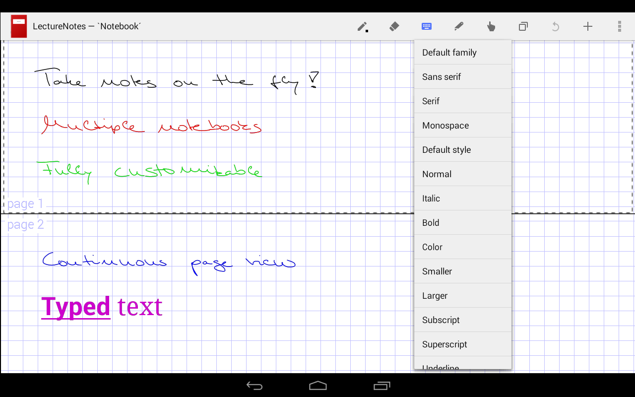 LectureNotes (Trial Version) - screenshot
