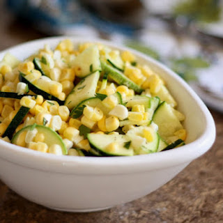 Raw Corn and Zucchini Salad with Lime Vinaigrette.
