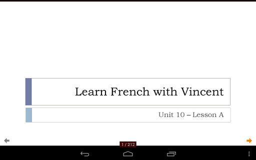 French with Vincent - Unit 10