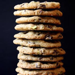 Dark Chocolate, Pistachio & Smoked Sea Salt Cookies.