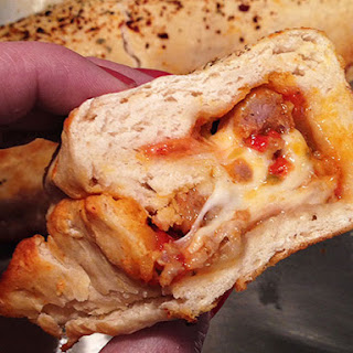 Italian Sausage, Garlic, and Red Pepper Stromboli