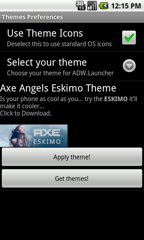 Axe Angel Eskimo Theme- screenshot