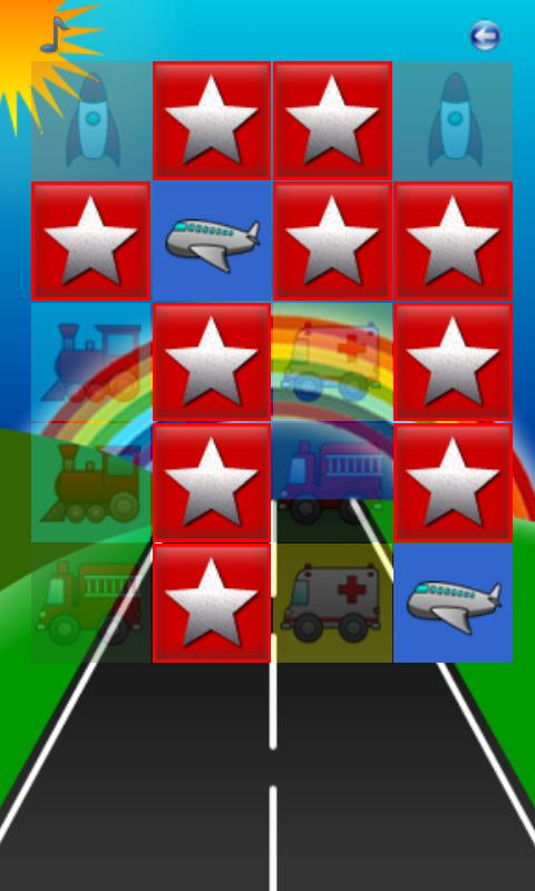 Cars, Planes and Trucks Pairs - screenshot