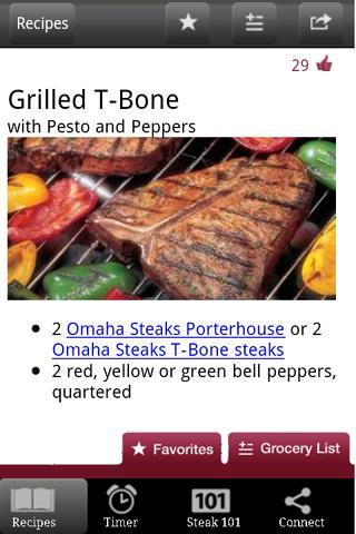 Omaha Steaks Steak Time - screenshot